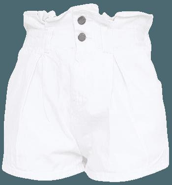 White Waist Detail Denim Shorts | Denim | PrettyLittleThing USA