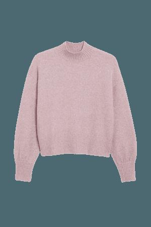 Knitted turtleneck sweater - Lilac purple - Jumpers - Monki WW