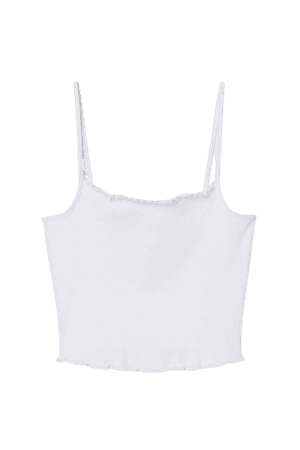 Cropped Tank Top - White