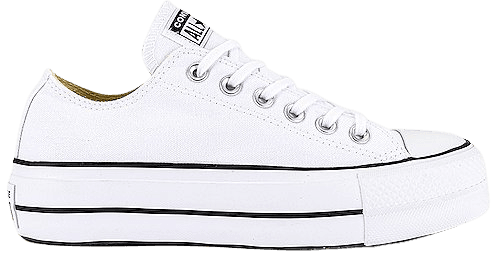 Converse Chuck Taylor All Star Lift Sneaker in White & Black | REVOLVE