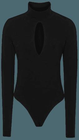Corrine Black High Neck Bodysuit – REISS