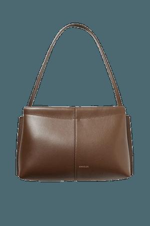 Carly Mini Leather Tote - Chocolate