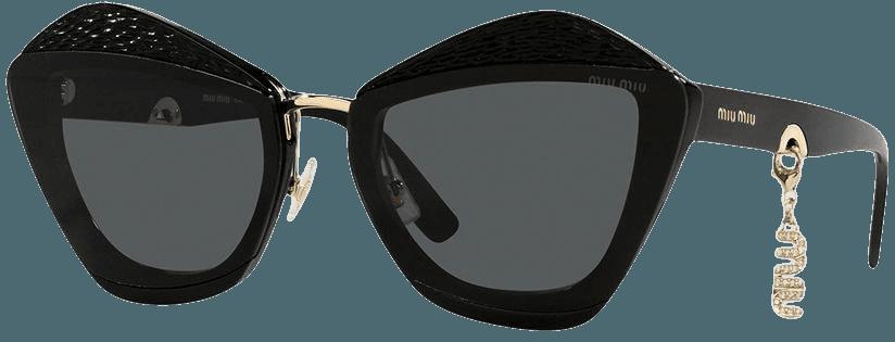Shop Miu Miu Eyewear Charms geometric-frame sunglasses with Express Delivery - FARFETCH