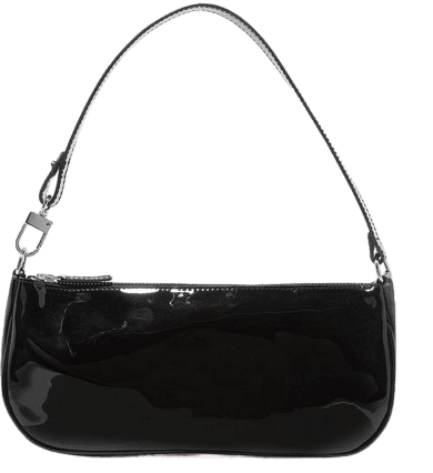 BY FAR | Rachel patent-leather shoulder bag | NET-A-PORTER.COM