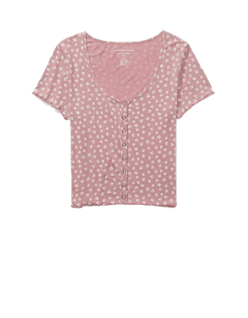 AE Floral Snap-Front Baby Tee
