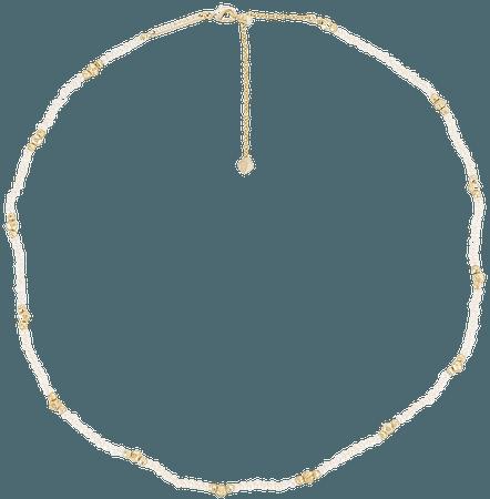 Kendra Scott Scarlet Choker Necklace in Gold & White Pearl   REVOLVE