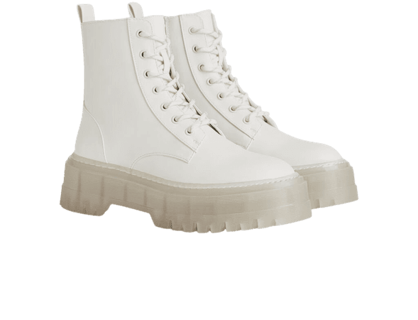 Platform ankle boots with translucent sole - Jackets - Woman | Bershka