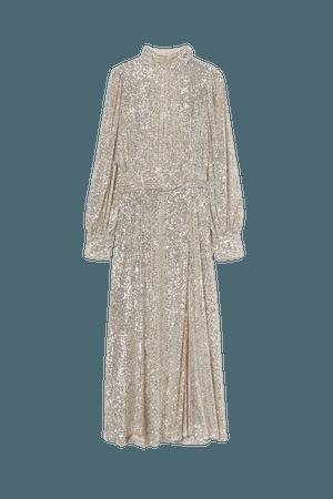 Sequined Dress - Beige