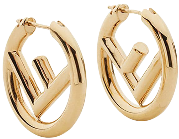 Fendi logo hoops AW20 | Farfetch.com