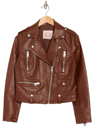 Levi's® Faux Leather Moto Jacket   Nordstromrack