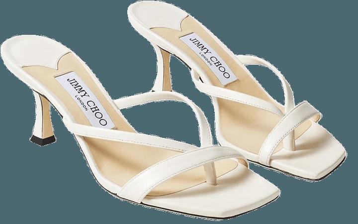 Jimmy Choo Strappy slip-on 70mm Sandals - Farfetch