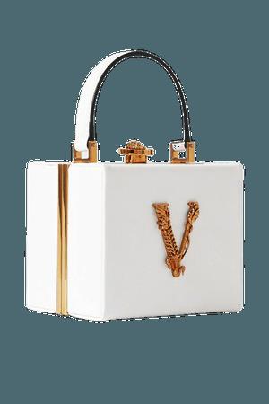 Virtus Embellished Leather Tote - White