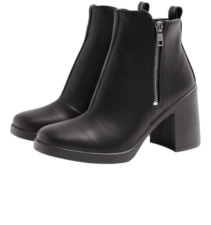 BRIDIE Black Crocodile Unit Boots | Topshop