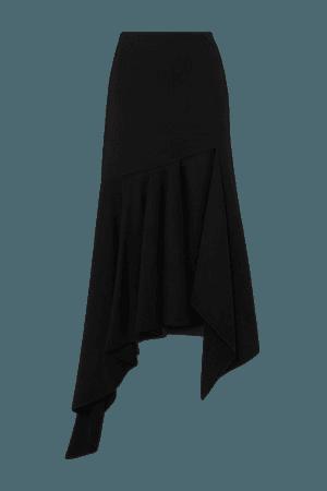 Asymmetric Wool Skirt - Black
