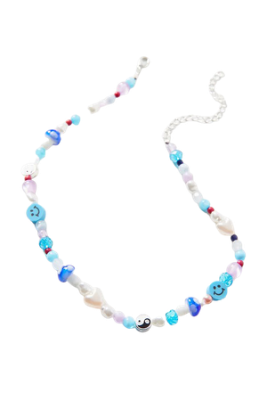 Chill Out Beaded Necklace | Urban Outfitters