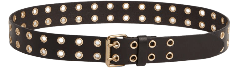 ALLSAINTS US: Womens Iryna Leather Belt (black_gold)