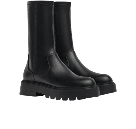 Fitted platform boots - Shoes - Woman | Bershka