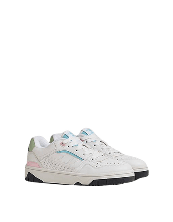 Bershka sporty sneakers with pastel detail in white | ASOS
