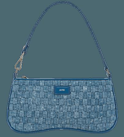 Eva Shoulder Bag - Blue Denim Weave – JW PEI