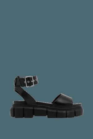 Faux Leather Platform Open Toe Sandals | Nasty Gal