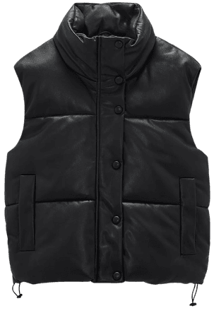 FAUX LEATHER PUFFER VEST | ZARA United States