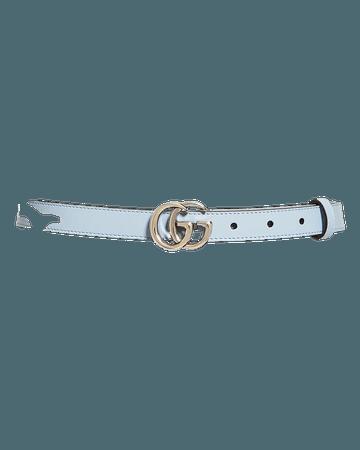 Gucci Women's Double G Slim Leather Belt | Bloomingdale's