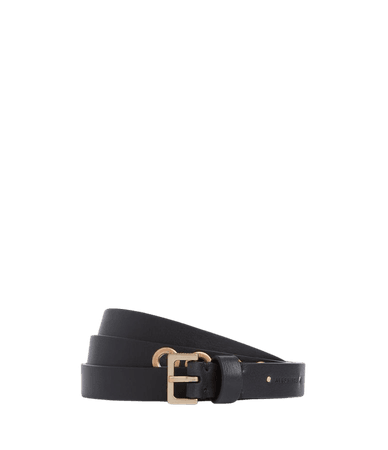 ALLSAINTS US: Womens Maya Leather Belt (black_warm_brass)