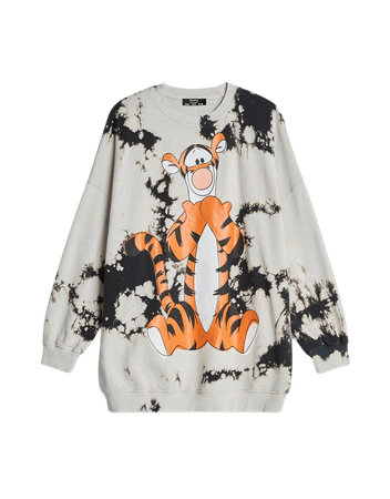 Printed cropped plush sweatshirt - Sweatshirts and Hoodies - Woman | Bershka