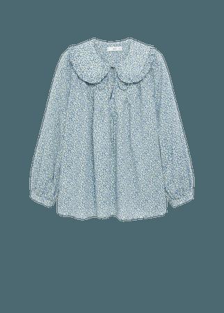 Babydoll collar blouse - Women | Mango USA