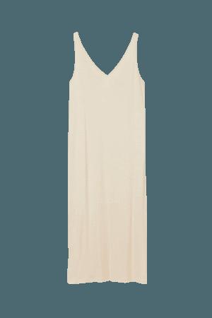 Sleeveless Jersey Dress - Light beige - Ladies   H&M US
