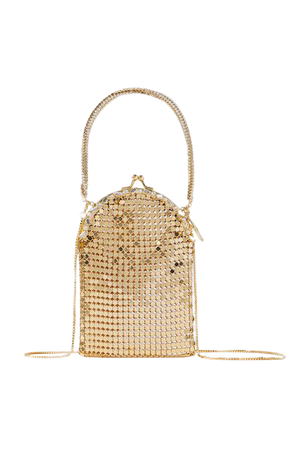 Bellagio Crystal-embellished Chainmail Tote - Gold