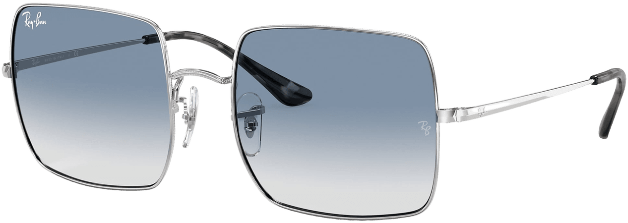 Ray-Ban Square 1971 Classic RB1971 Silver - Metal - Light Blue Lenses - 0RB197191493F54   Ray-Ban® USA