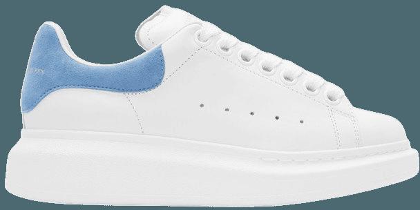 Alexander McQueen White & Blue Sneakers