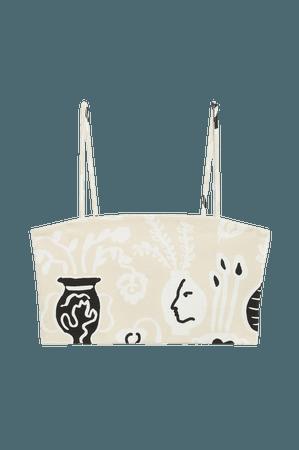 Spaghetti strap crop top - Vase print - Tanktops - Monki WW
