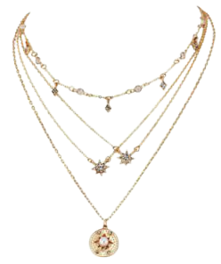 Gold Multilayer Choker Necklace