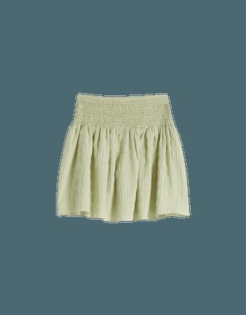 Gingham skirt with ruching - Skirts - Woman | Bershka