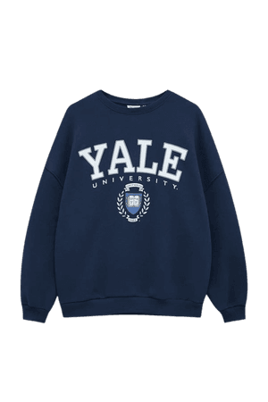 Grey Yale college sweatshirt - pull&bear