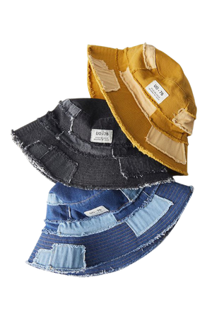 UO Frayed Patchwork Bucket Hat | Urban Outfitters
