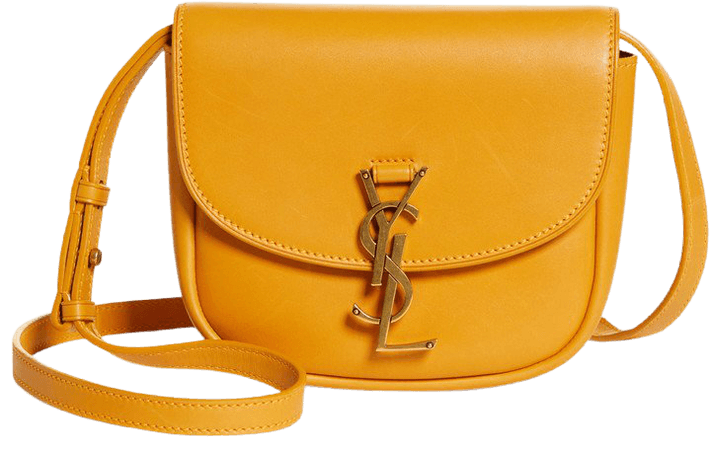 Kaia Monogram Leather Crossbody Bag