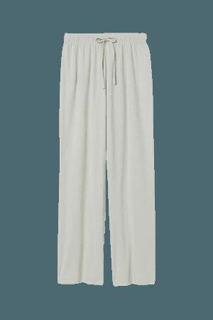 Wide-leg Pajama Pants - Mint green - Ladies | H&M US