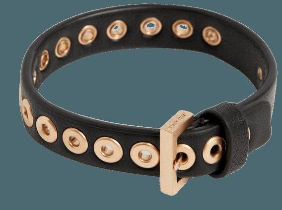 ALLSAINTS US: Womens Tori Bracelet (black_warm_brass)