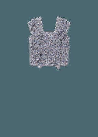 Ruffles printed blouse - Women | Mango USA