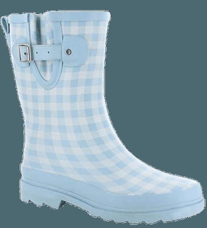 Amazon.com | Western Chief Women's Waterproof Printed Mid Height Rain Boot, Bloom Bees, 6 | Rain Footwear