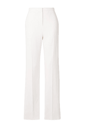 Crepe Slim-leg Pants - White