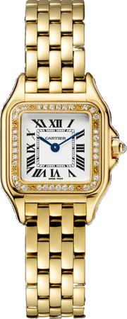 Cartier Panthère de Cartier watch Small model, yellow gold, diamonds