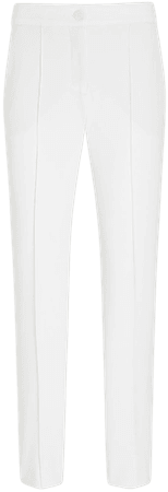 High Waisted Seamed Twill Ankle Pant   Express