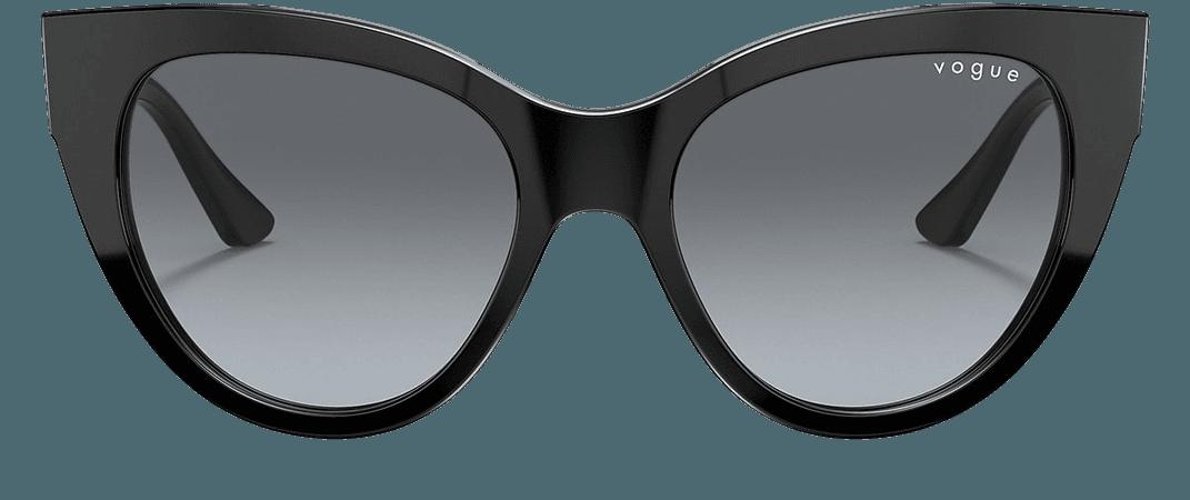 Vogue VO5339S Grey-Black & Black Sunglasses | Sunglass Hut USA