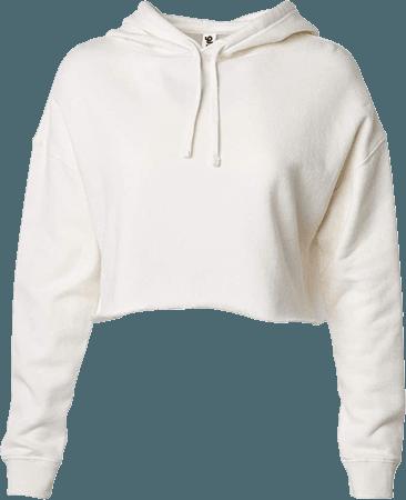 Global Blank Women's Crop Top Sweatshirt Fleece Pullover Cropped Hoodie Sweater Off White at Amazon Women's Clothing store