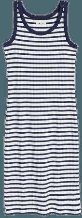 Madewell Stripe Ribbed Midi Tank Dress | Nordstrom