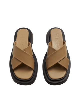 Leather sandals with straps - Women | Mango USA